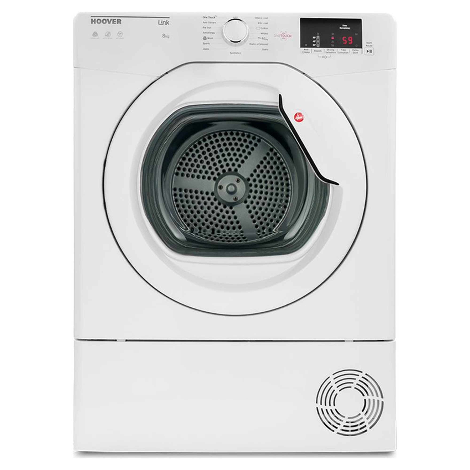 Hoover Hlc8dg 8kg One Touch Condenser Tumble Dryer