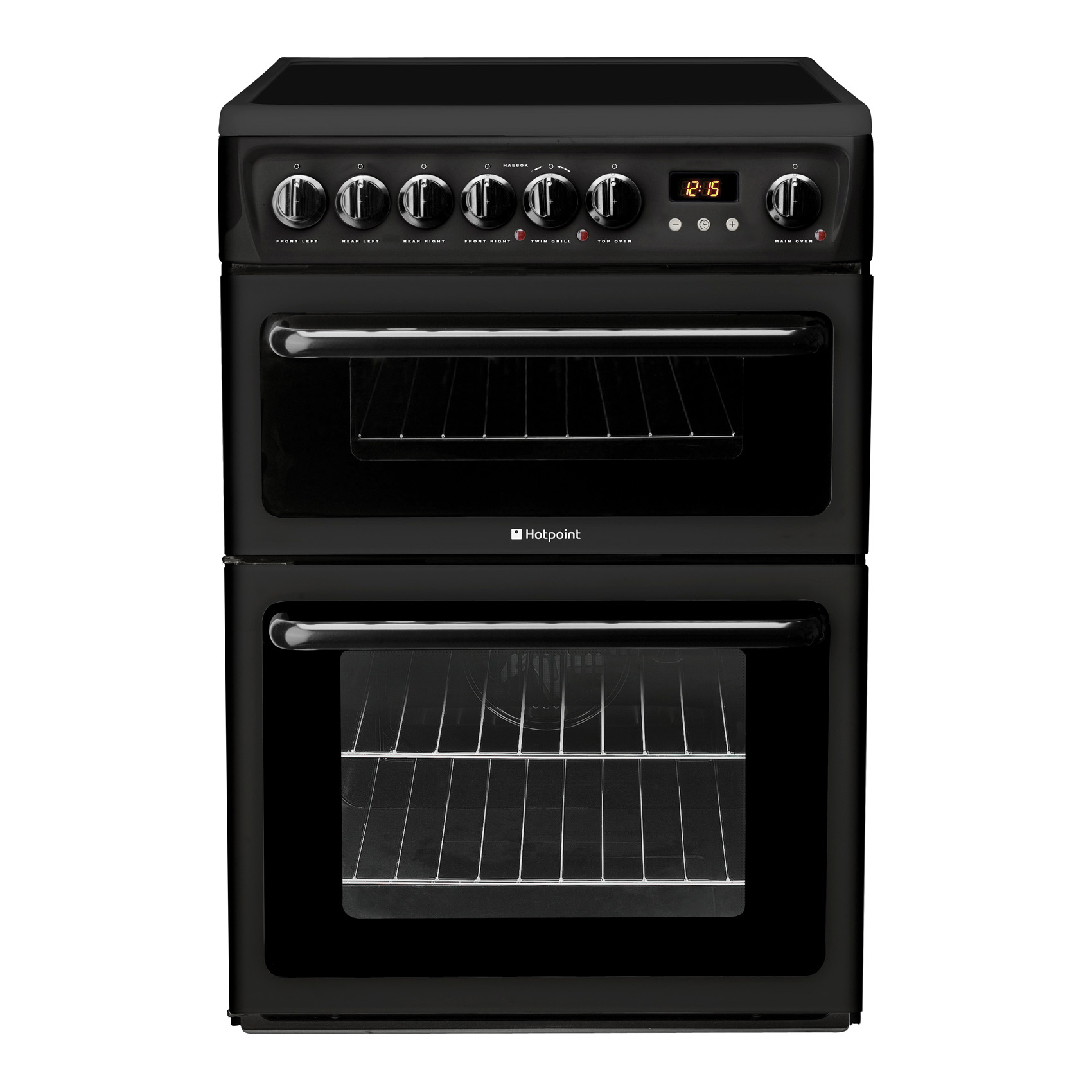 hotpoint hae60ks electric cooker with ceramic hob hughes. Black Bedroom Furniture Sets. Home Design Ideas