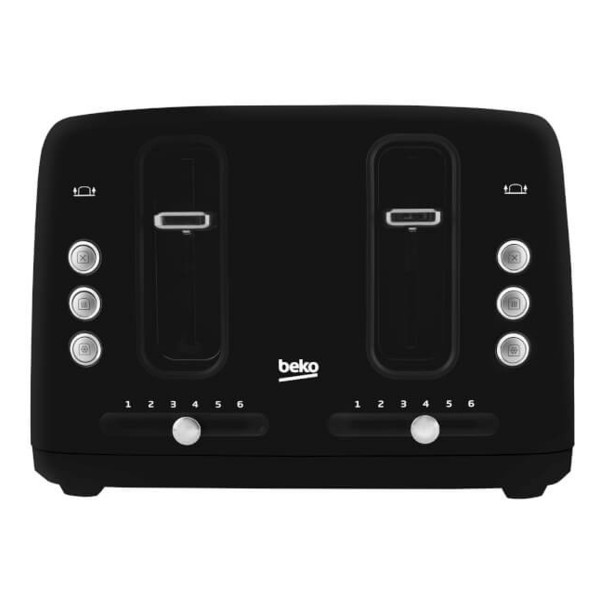 Compare cheap offers & prices of Beko TAM7401B Traditional 4 Slice Toaster with 6 Browning Levels in Black manufactured by Beko