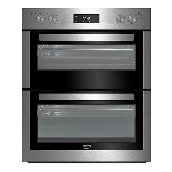 Compare prices for Beko BTF26300X 594mm Electric Double Oven with 86L Capacity in Stainless Steel