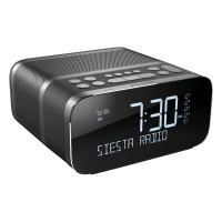 SIESTA-S6-BK DAB+/FM Alarm Clock Radio with Bluetooth and Crystal Vue+ Display