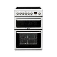 Hotpoint HAE60P Double Electric Cooker, B Energy Rating, White