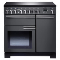Ovens & Cookers Professional Deluxe PDL90EISLC Electric Range Cooker with Induction Hob