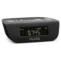 SIESTA-MIII DAB/FM Clock Radio with Two Quick-Set Alarms in Black