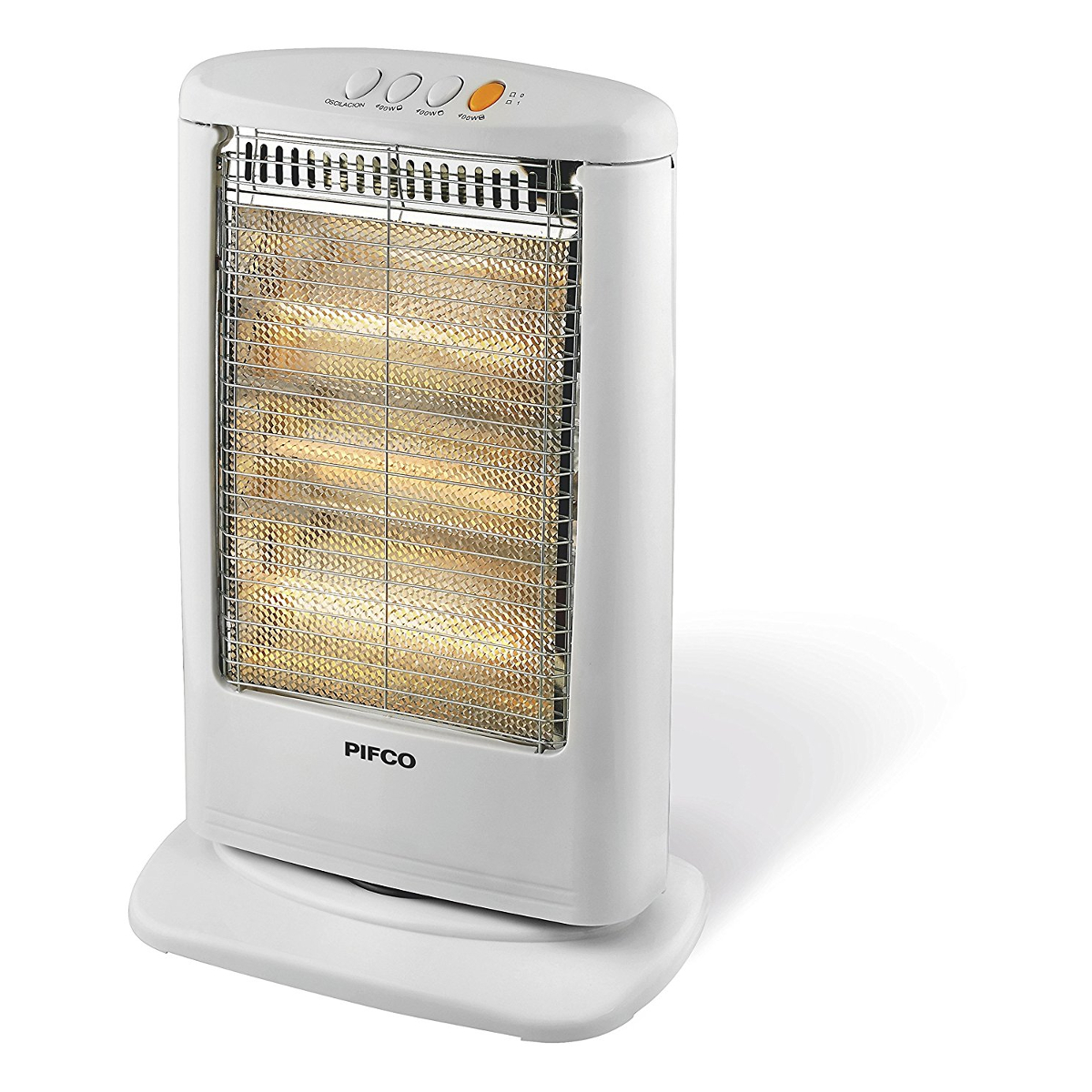 pifco p42001 halogen heater with 1200w power and 3 heat sett