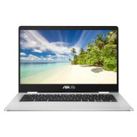 "Image of ASUS C423NA 14"" Intelu0026regCeleron? Chromebook - 32 GB eMMC, Black & Silver, Black"