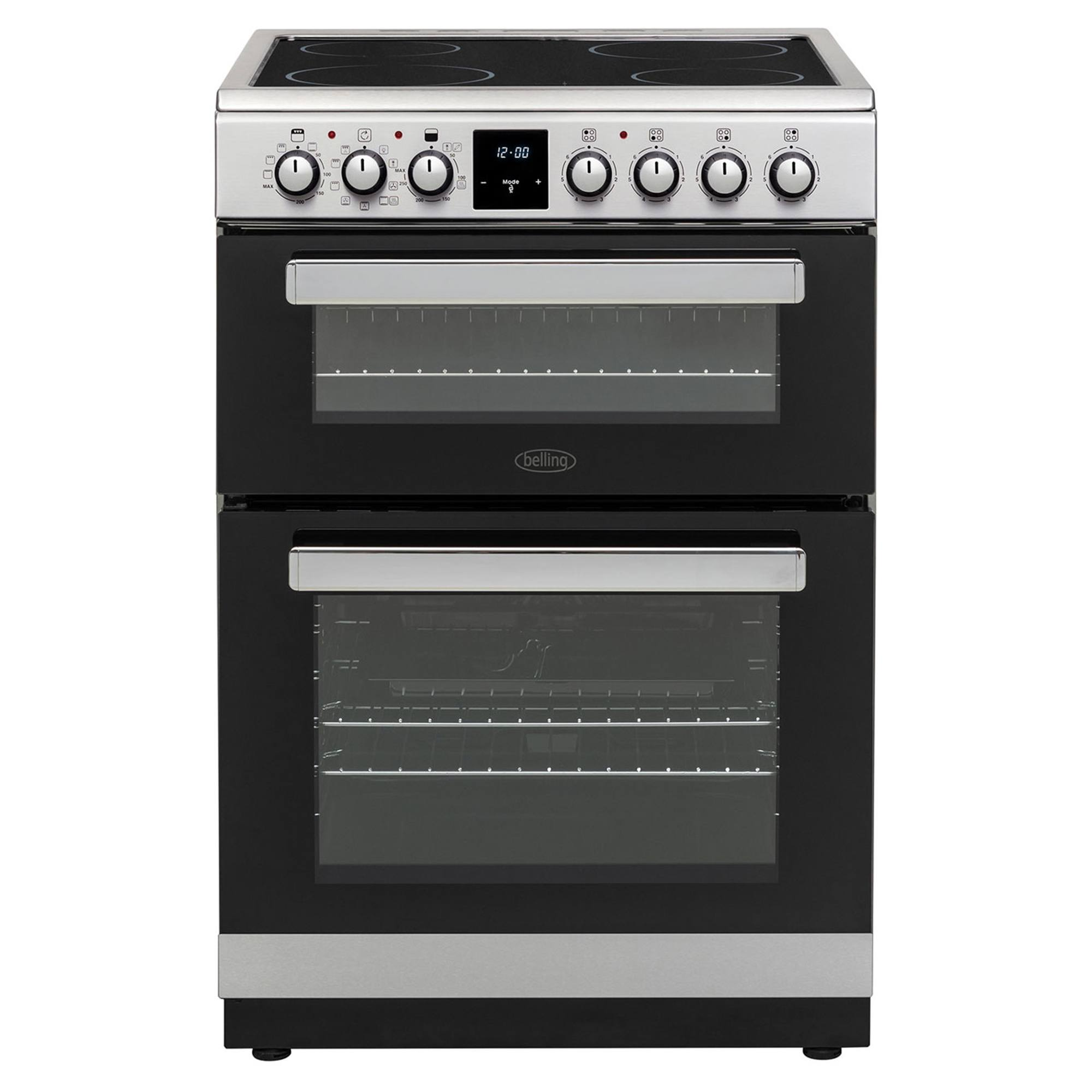 Belling Fse608mfc Electric Cooker With Ceramic Hob Hughes