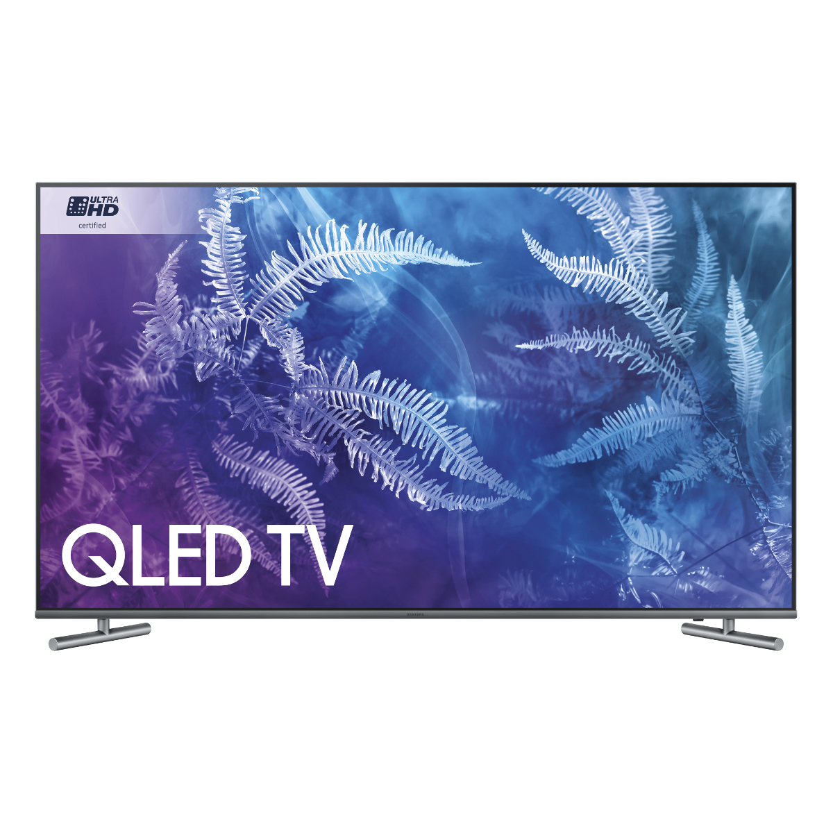 Samsung Qe55q6fam 55 Flat Qled Lite 4k Smart Led Tv With Freeview  # Deco Table Tele Plus Homecimema