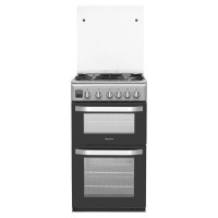 Hotpoint HD5G00CCSS 50cm Double Cavity Gas Cooker - Silver