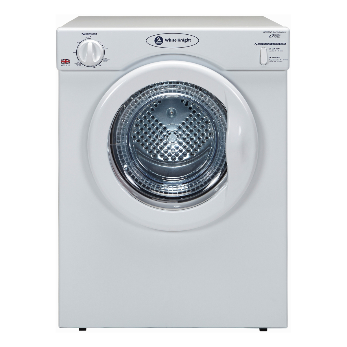 White Knight C39aw Compact 3 5kg Vented Tumble Dryer Hughes