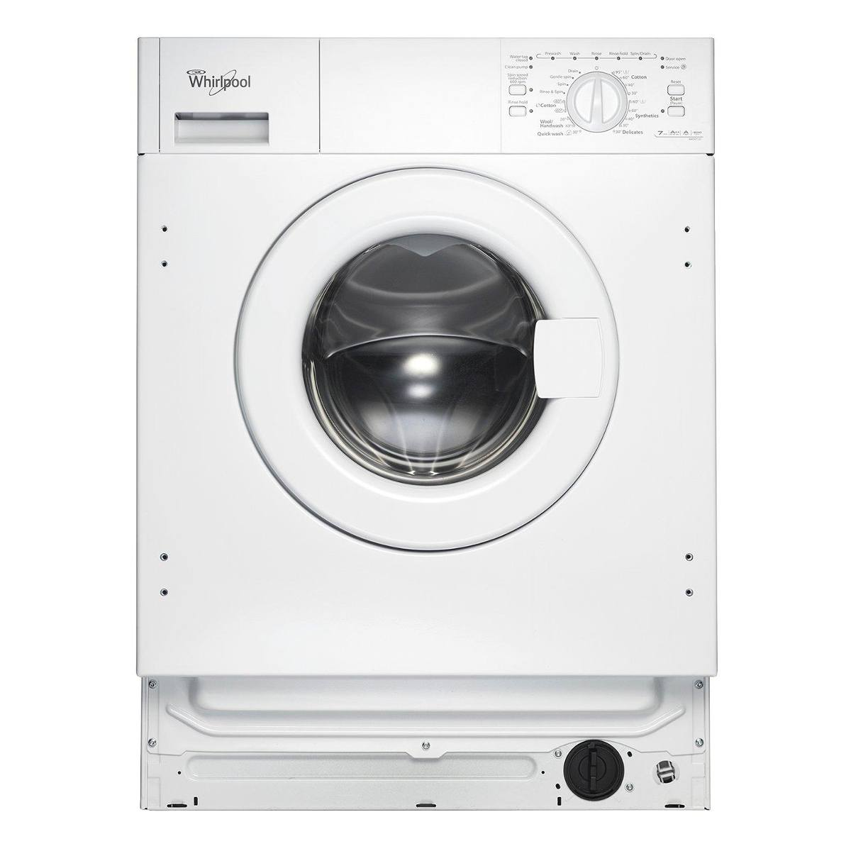 whirlpool awoa7123 7kg built in washing machine white. Black Bedroom Furniture Sets. Home Design Ideas