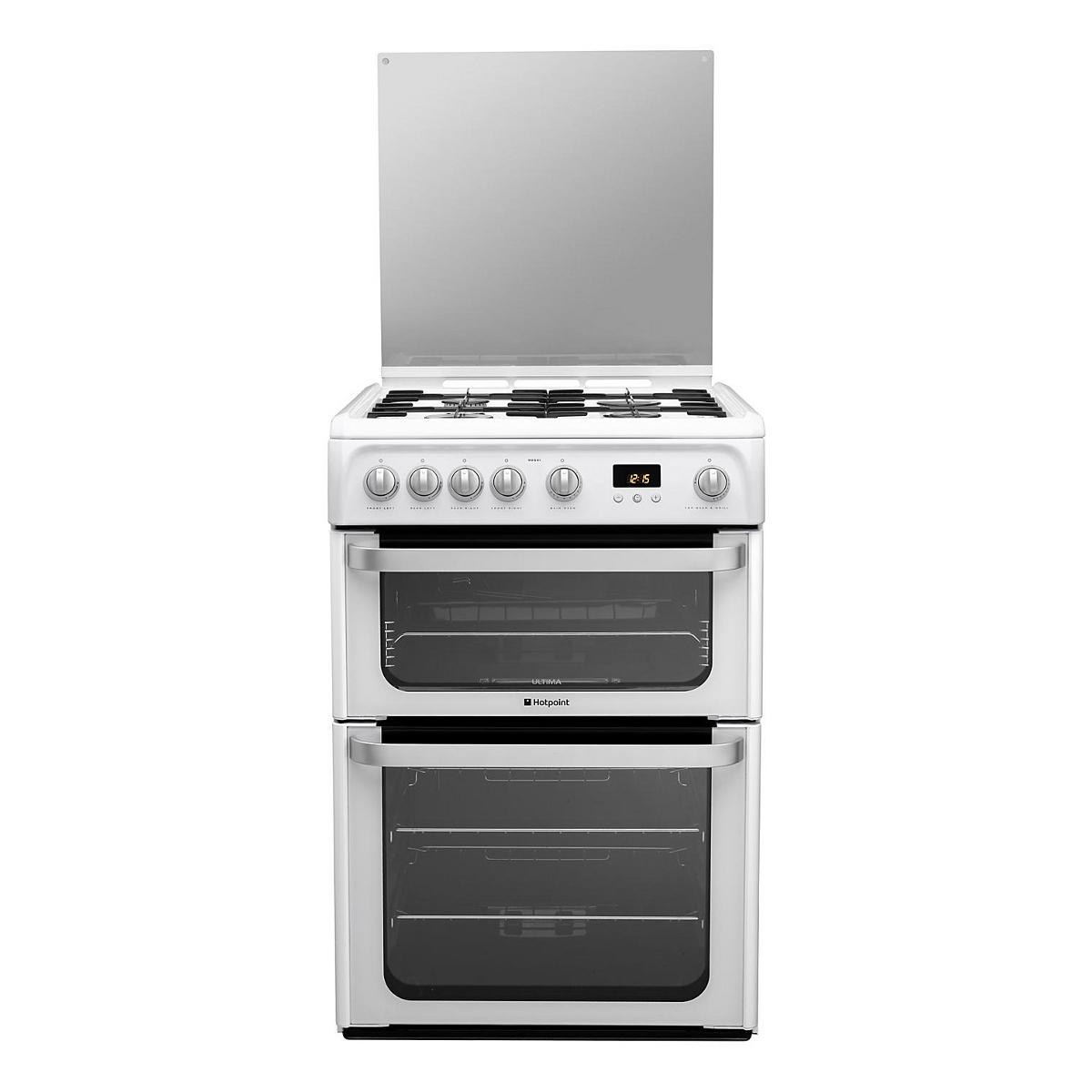 Hotpoint Ultima Hug61p 4 Gas Hob Double Oven Gas Cooker