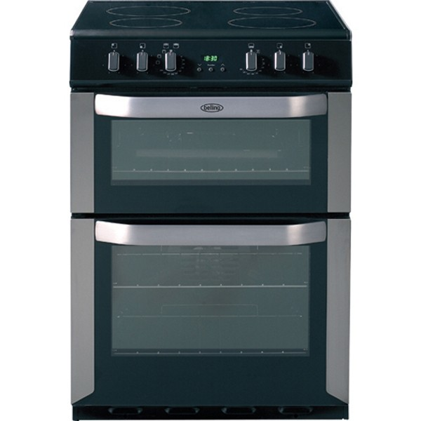 Cheapest price of Belling FSE60DOPSS Electric Double Oven with Ceramic Hob in Stainless Steel in new is £499.99