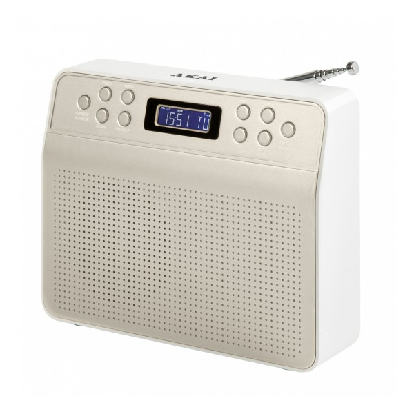 Compare cheap offers & prices of AKAI A60013C Portable DAB Radio with LCD Display in Champagne manufactured by Akai