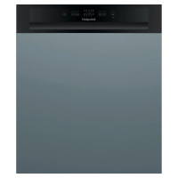 Image of HOTPOINT HBC 2B19 UK N Full-size Semi-Integrated Dishwasher - Black, Black