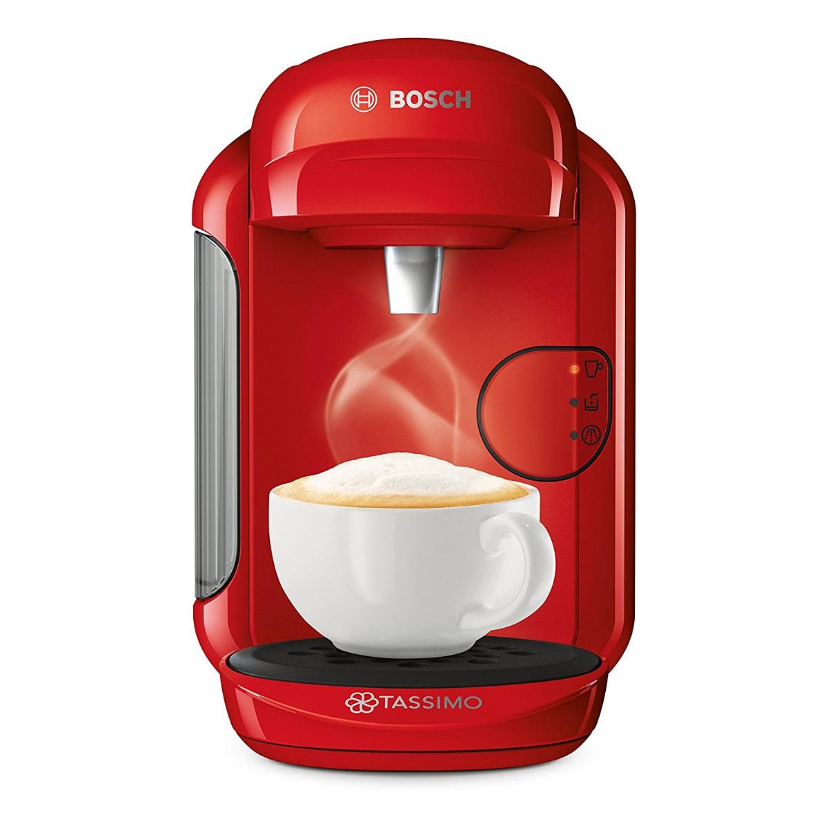 Tassimo Coffee Maker Red Light Stays : Bosch TAS1403GB Tassimo by Bosch Vivy 2 Coffee Machine in Red Hughes