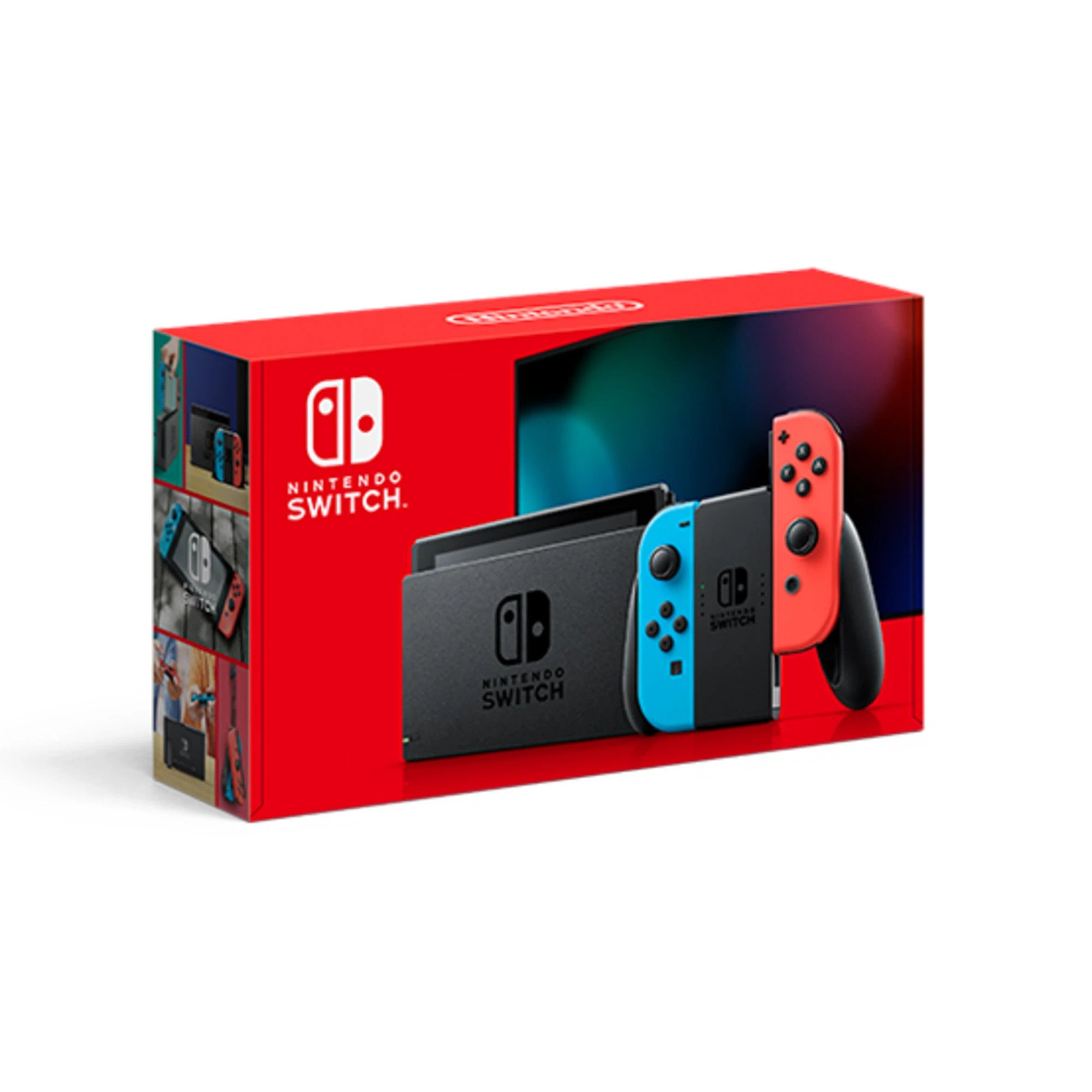 Nintendo Switch 1.1 with Neon Red & Blue Joy-Con Controllers - Neon