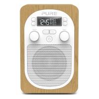 Evoke H2 DAB/DAB+/FM Compact, Portable Radio - Oak