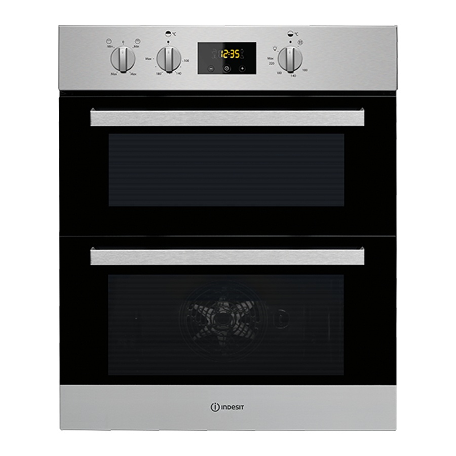 Indesit Idu6340ix Built Under Double Oven Stainless