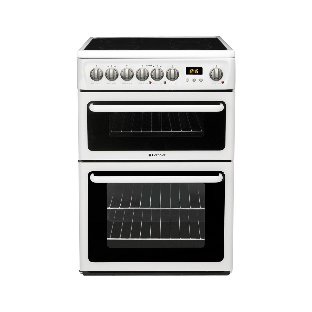 Hotpoint Hae60ps Electric Cooker With Ceramic Hob Hughes