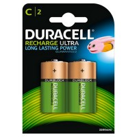 HR14B2 2200mAh Rechargeable C Battery - Pack of 2