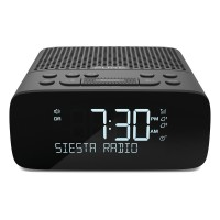 Siesta S2 Bedside DAB/FM Digital Alarm Clock Radio in Graphite