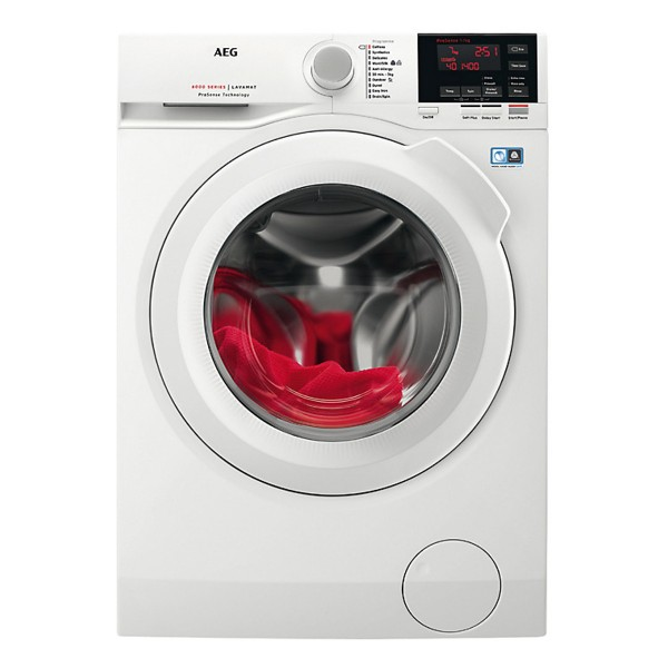 Compare retail prices of AEG L6FBG741R Freestanding Washing Machine with 7kg load capacity in White to get the best deal online