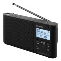 XDRS41DB Portable DAB+/FM Clock Radio with 10 Preset Stations and LCD Display in Black