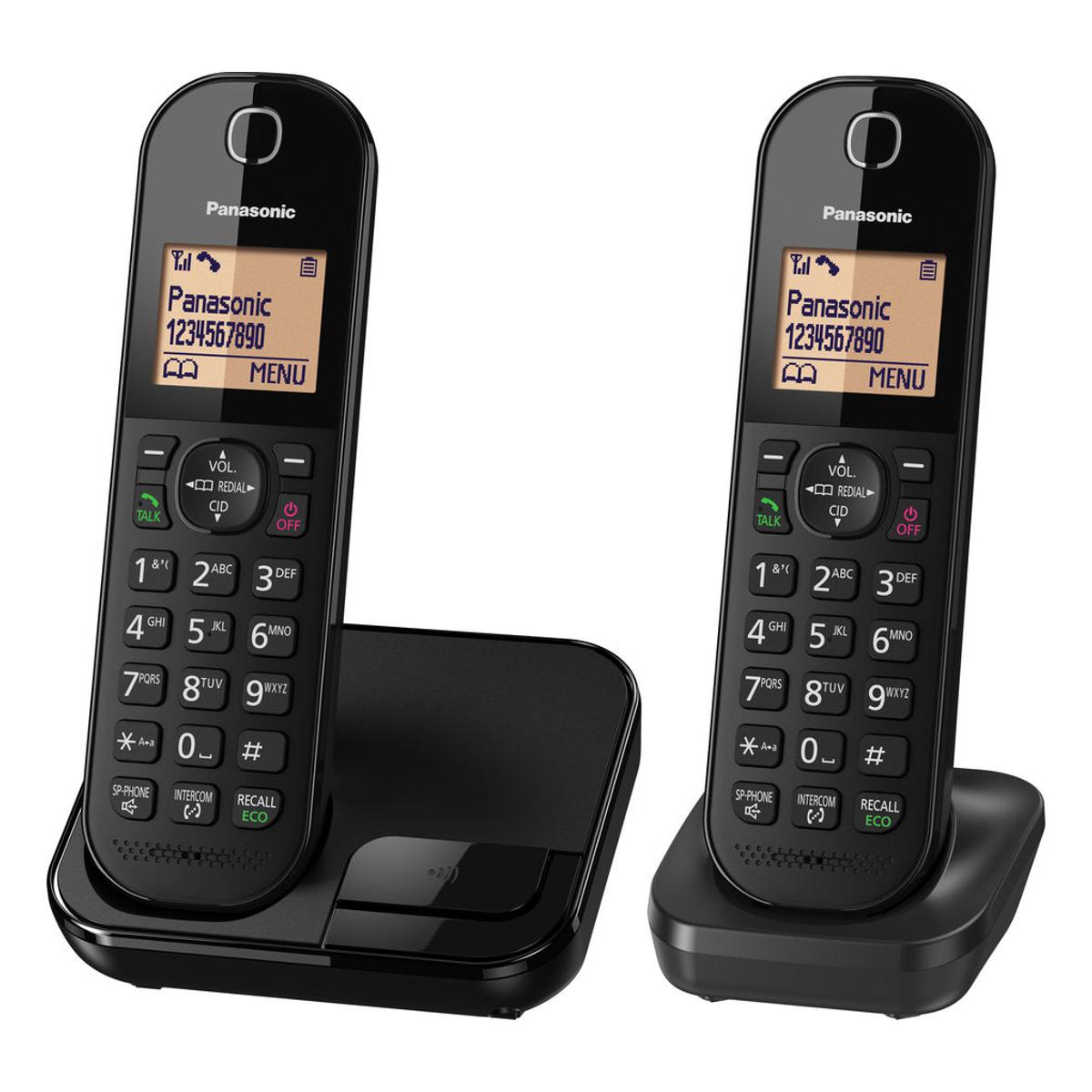 Panasonic Kxtgc412eb Cordless Phone With Twin Handsets And
