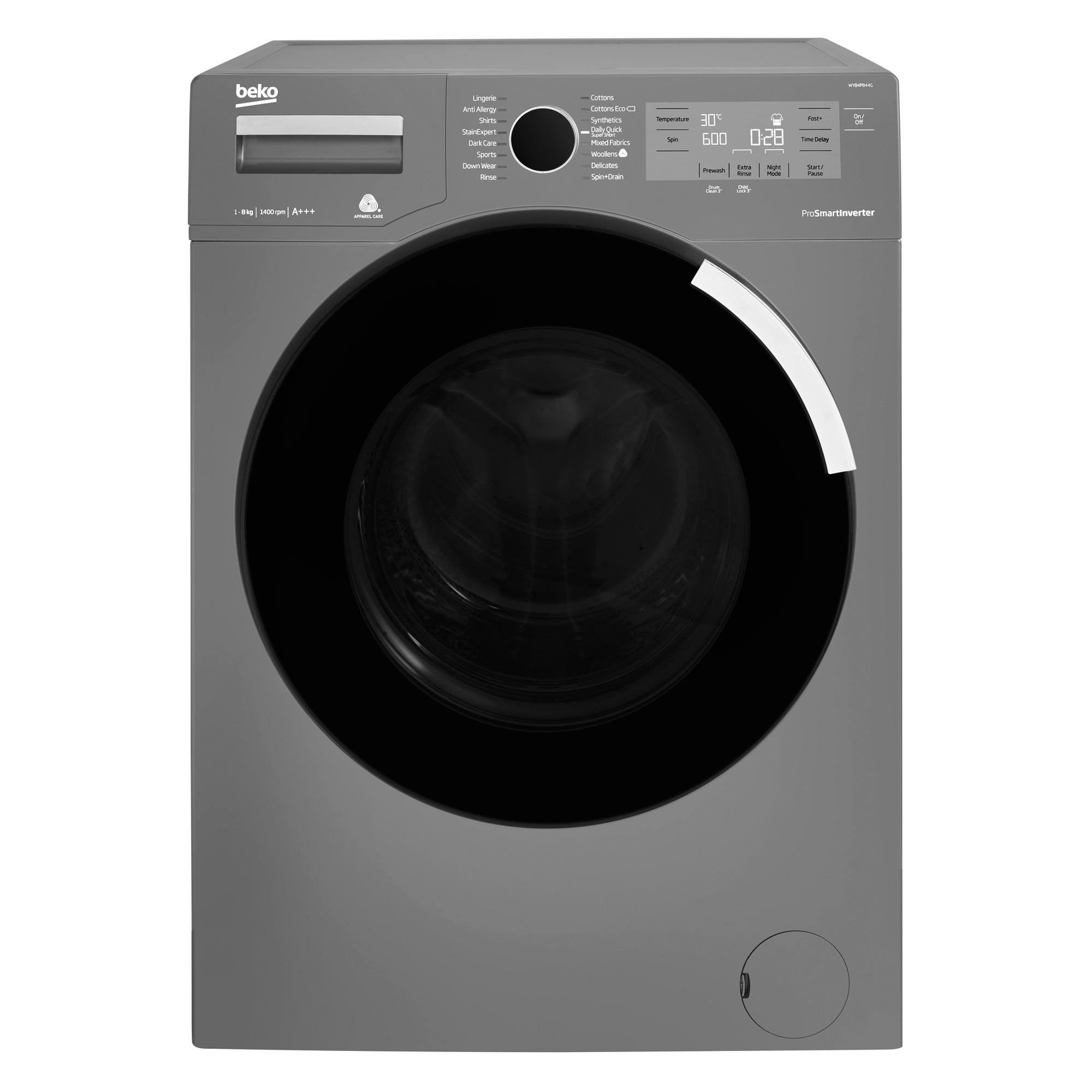 Beko Wy84pb44g 8kg 1400rpm Washing Machine Hughes