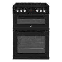 Beko KDC653K 60cm Electric Cooker with Ceramic Hob - Black - A/A Rated