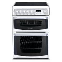 Hotpoint CH60EKWS Ceramic B Stove White Oven and Cooker - Ovens and Cookers (Stove, White, Buttons, Rotating, Front, Electronic, Ceramic)
