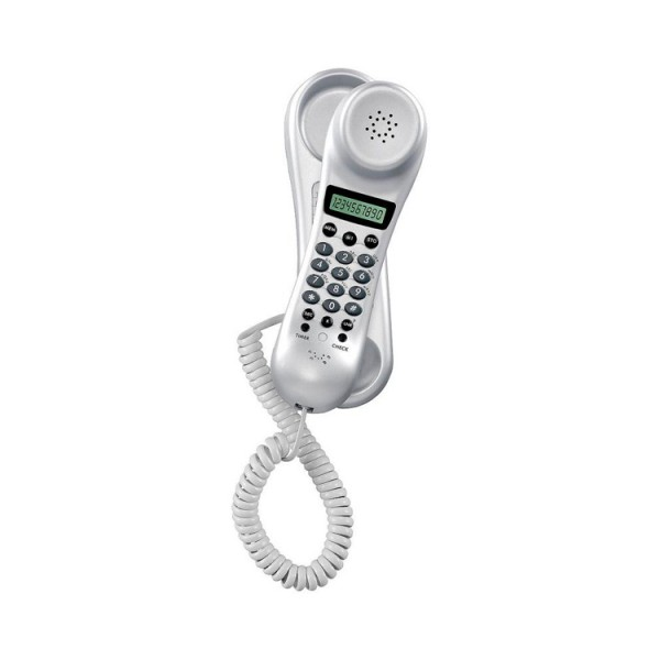 Cheapest price of Binatone TREND3 Wall Mountable Corded Phone in Silver in new is £9.99