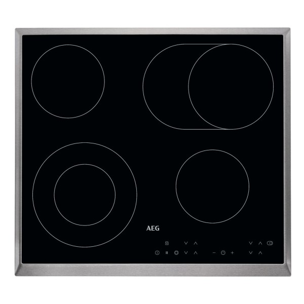Cheapest price of AEG HK634060XB Ceramic Hob with 4 Cooking Zones and 10 Power Levels in Black in new is £399.00