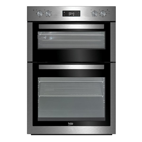 Compare prices for Beko BDF26300X 594mm Electric Double Oven with 113L Capacity in Stainless Steel