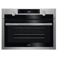 AEG KME565000M Built In Compact Electric Single Oven with Microwave Function - Stainless Steel