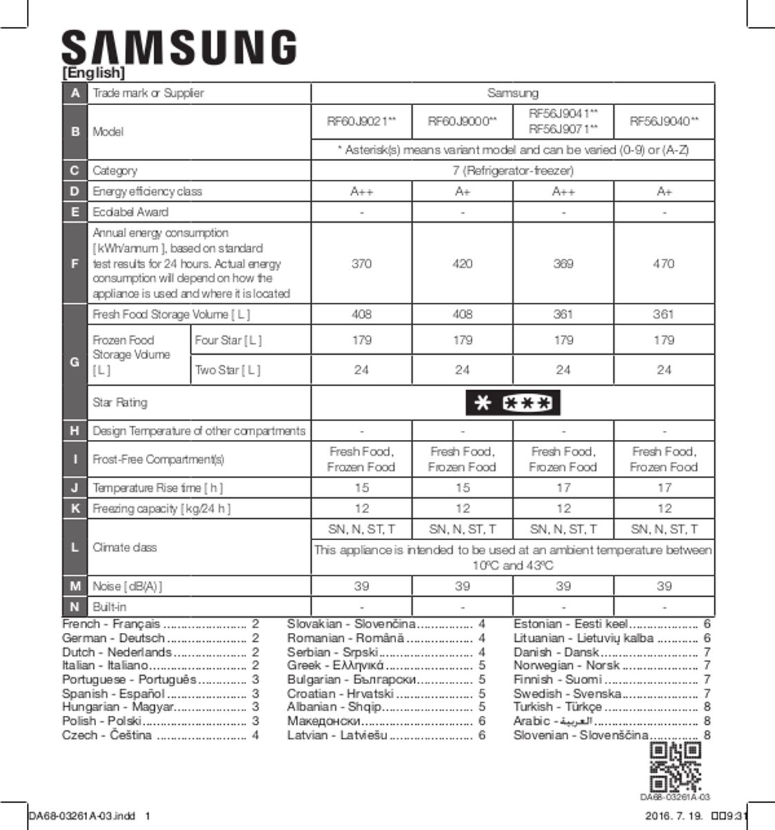 Samsung Rf56j9040sr American Fridge Freezer Hughes