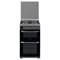 HD5G00CCSS 500mm Double Gas Cooker - Inox Stainless Steel