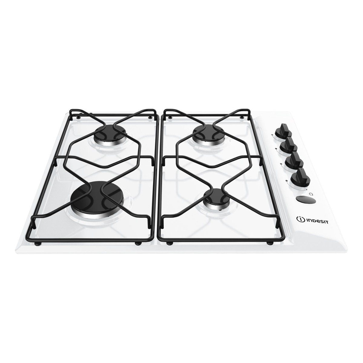 Indesit PAA642-1WH 58cm Built in Gas Hob with 4 Burners in White ...