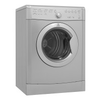 INDESIT ECO TIME IDVL75BRS FREE STANDING VENTED TUMBLE DRYER IN SILVER Vented,Silver