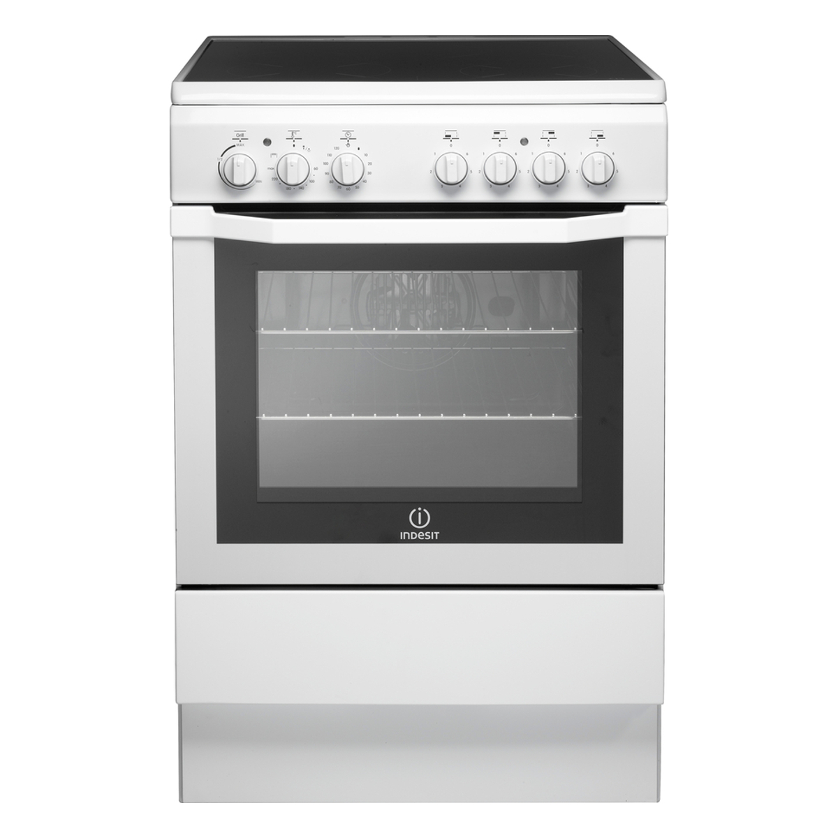 Indesit I6vv2aw Electric Cooker With Ceramic Hob Hughes