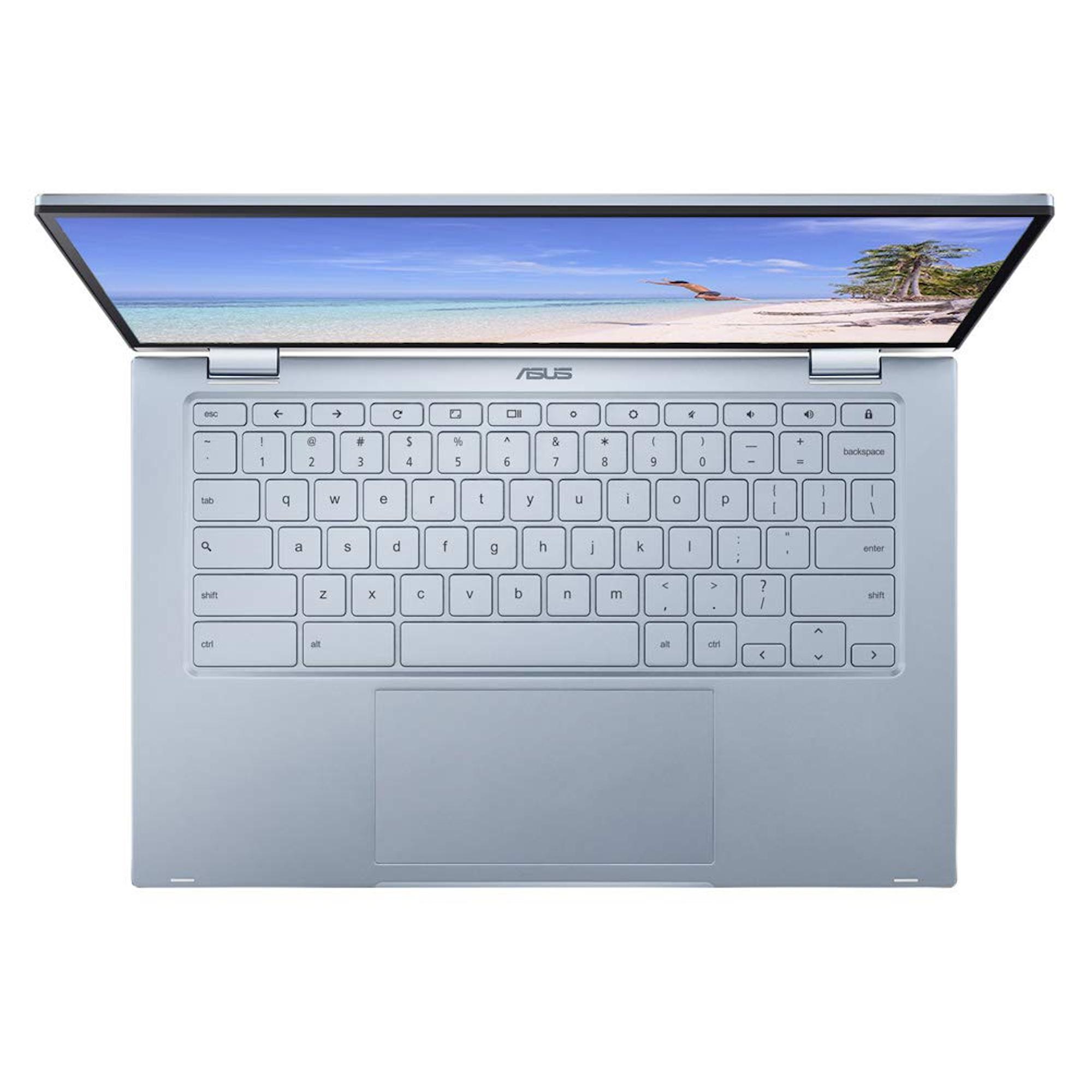 """ASUS C433TA 14"""" Intel Core M3-8100Y 4GB RAM CPU 2-in-1 Chromebook"""