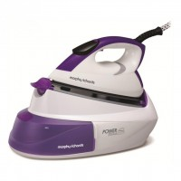 Morphy Richards Power Steam Intellitemp 333000 Steam Generator Iron in White / Purple