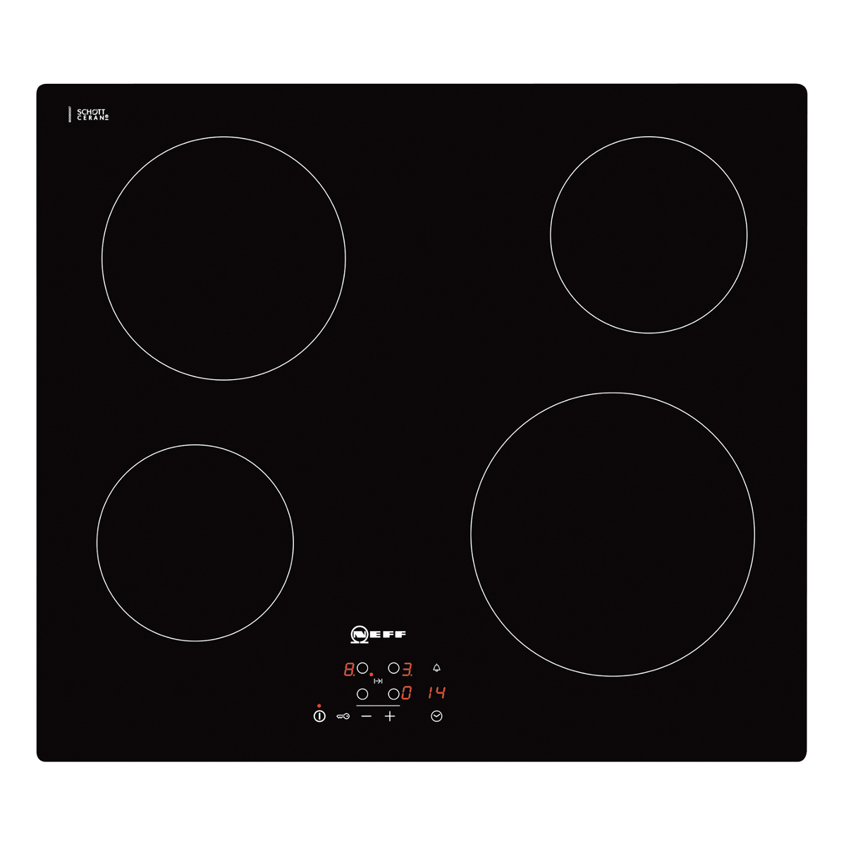 Neff T10b40x2 592mm Built In 4 Zone Ceramic Hob Hughes