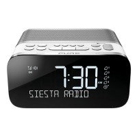 SIESTA-S6-POLAR DAB/DAB+/FM Bluetooth Bedside Clock Radio with Alarm and 40 Preset Stations